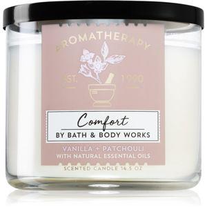 Bath & Body Works Vanilla + Patchouli vonná svíčka 411 g