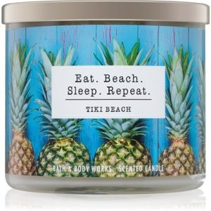 Bath & Body Works Tiki Beach vonná svíčka 411 g I. Eat. Beach. Sleep.