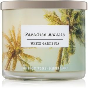 Bath & Body Works White Gardenia vonná svíčka III. Paradise Awaits 411 g
