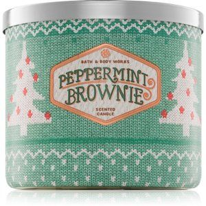 Bath & Body Works Peppermint Brownie vonná svíčka 411 g
