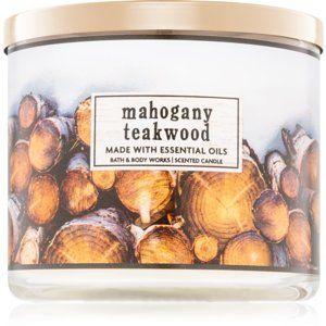 Bath & Body Works Mahogany Teakwood vonná svíčka I. 411 g