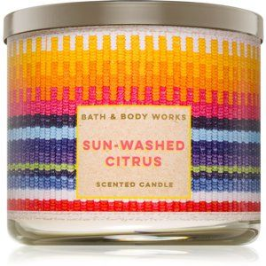Bath & Body Works Sun-Washed Citrus vonná svíčka 411 g