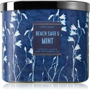 Bath & Body Works Beach Sage & Mint vonná svíčka 411 g