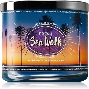 Bath & Body Works Fresh Sea Walk vonná svíčka 411 g