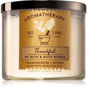Bath & Body Works Frankincense + Myrrh vonná svíčka (Thankful) 411 g