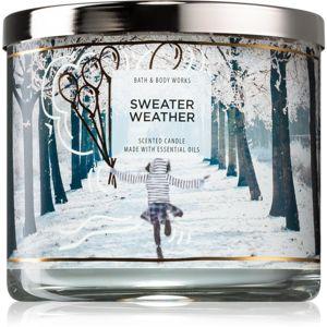 Bath & Body Works Sweater Weather vonná svíčka IV. 411 g