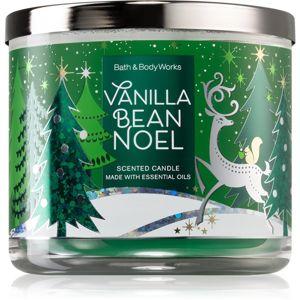 Bath & Body Works Vanilla Bean Noel vonná svíčka s esenciálními oleji I. 411 g