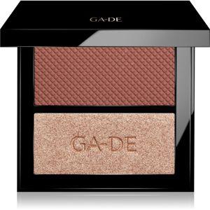 GA-DE Velveteen paletka na tvář odstín 46 Blush & Glow 7,4 g