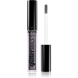 NYX Professional Makeup Glitter Goals tekutá rtěnka odstín 08 Alienated 3 ml