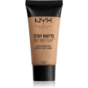NYX Professional Makeup Stay Matte But Not Flat tekutý make-up s matným finišem odstín 10 Caramel 35 ml