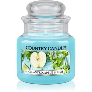 Country Candle Cilantro, Apple & Lime vonná svíčka 104 g