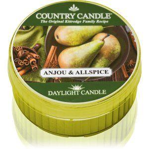 Country Candle Anjou & Allspice čajová svíčka 42 g