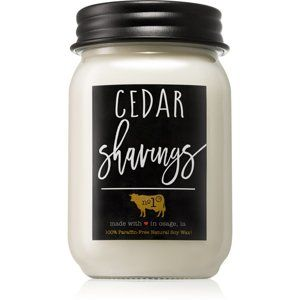 Milkhouse Candle Co. Farmhouse Cedar Shavings vonná svíčka 368 g Mason