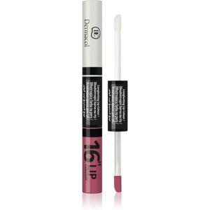 Dermacol 16H Lip Colour dlouhotrvající dvoufázová barva a lesk na rty odstín č.28 4,8 g