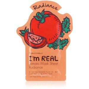 TONYMOLY I'm REAL Tomato plátýnková maska pro rozjasnění a vitalitu pleti