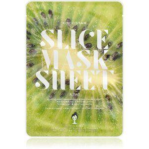 KOCOSTAR Slice Mask Sheet Kiwi rozjasňující plátýnková maska s vitaminem C