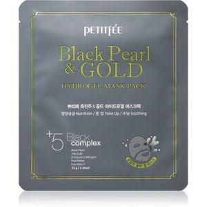 Petitfee Black Pearl & Gold intenzivní hydrogelová maska s 24karátovým zlatem 32 g