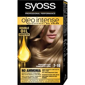 Syoss Oleo Intense permanentní barva na vlasy s olejem odstín 7-10 Natural Blond