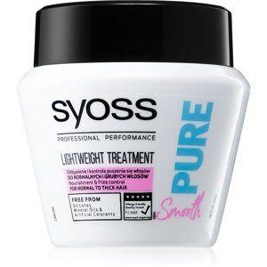Syoss Pure Smooth vyživující maska pro hladké a zářivé vlasy 300 ml