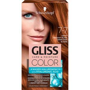 Schwarzkopf Gliss Color barva na vlasy odstín 7-7 Copper Dark Blonde