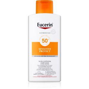 Eucerin Sun Sensitive Protect extra lehké mléko na opalování SPF 50+ 400 ml