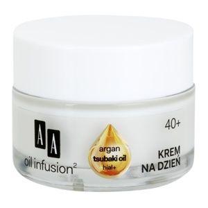 AA Cosmetics Oil Infusion2 Argan Tsubaki 40+ denní krém pro obnovu pev