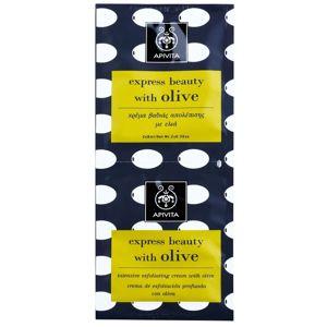 Apivita Express Beauty Olive hloubkově čisticí peeling na obličej 2 x 8 ml