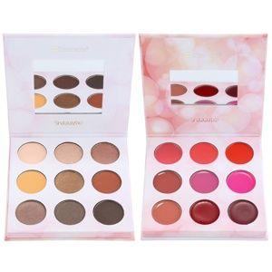 BH Cosmetics Shaaanxo paleta očních stínů a rtěnek 24 g