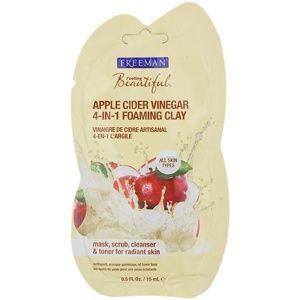 Freeman Feeling Beautiful kaolínová pleťová maska pro všechny typy pleti Apple Cider Vinegar 15 ml