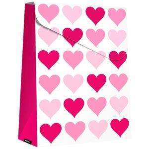 Giftino Wrapping dárková taška skládací velká Pink Hearts