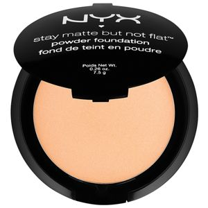 NYX Professional Makeup Stay Matte But Not Flat pudrový make-up s matným efektem odstín 12 Tawny 7,5 g